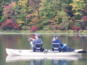 Tandem Kayak Fishing Back to Back
