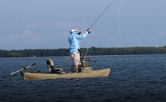 Fly fishing kayaks fly fishing canoes nucanoe for Fly fishing kayak