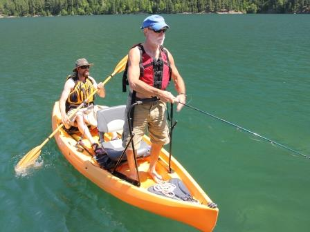 Spacious Tandem Fishing Kayak