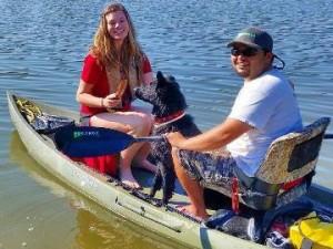 Tandem Fishing Kayak with Dog