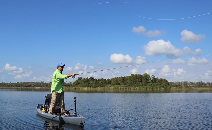 NuCanoe Kayak Fly Fishing Skill