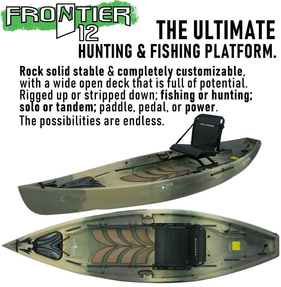 Frontier 12 Nucanoe Hunting Fishing Kayaks